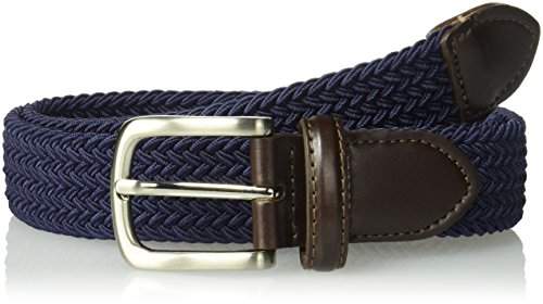 Dockers Big Boys' Braided Elastic-Web Stretch Belt, Navy Medium -
