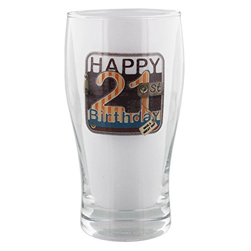 Faonline Laura Darrington Unzipped Collection Pint Glass 21St Birthday ()