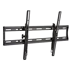"Sanus Low Profile Tilting TV Wall Mount Bracket for 40""-70"" TVs - Features Effortless 10º Tilt, Slim 2"" Profile, & Post Install Centering - OLT15-B1"