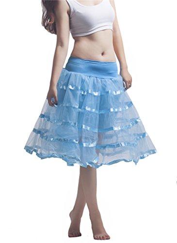 Noriviiq - Enaguas cortas - para mujer azul claro
