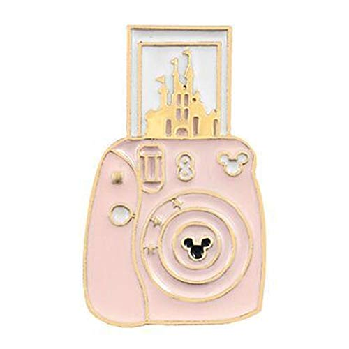 (Flairs New York Premium Handmade Enamel Lapel Pin Brooch Badge (Pink Magic Instant Camera, 1 Pin))