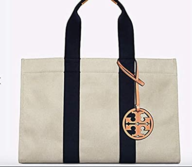 a9c7deea5 Tory Burch Large Miller Canvas Tote  Handbags  Amazon.com