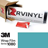 3M 1080 G77 Gloss Sky Blue 5ft x 1ft W/Application Card Vinyl Vehicle Car Wrap Film Sheet Roll