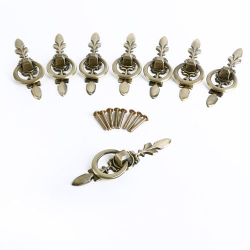 Kwikset Removal Tool (The Pecan Man 8Pcs Vintage Chic Metal Drawer Pulls Antique Brass Door Cabinet Handles Knob)