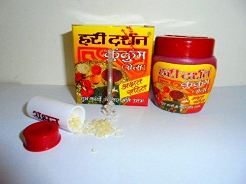 1pack of 40g Pure Haridarshan Kumkum Paste with saffron for Diwali Navratri Durga Puja -Hindu Puja -Sindoor- Roli -Havan -Religious