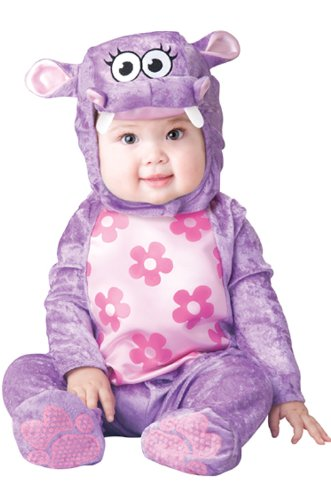 InCharacter Baby Girl's Huggable Hippo Costume, Purple, Small by Fun World ()