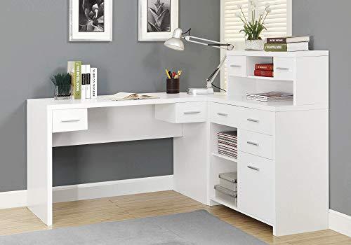 Monarch Specialties WHITE LEFT OR RIGHT FACING CORNER Computer Desk