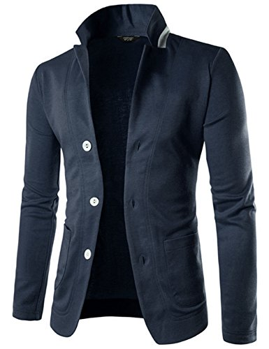 Traditional Mens Suit Coat (Coofandy Mens Casual Slim Fit Blazer 3 Button Suit Sport Coat Lightweight Jacket)