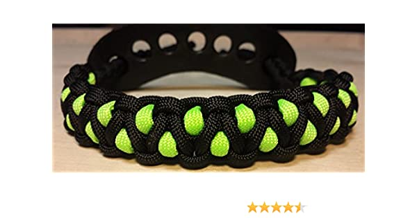 Muddy River Gear Archery Bow Wrist Sling Black and Neon Green Caged