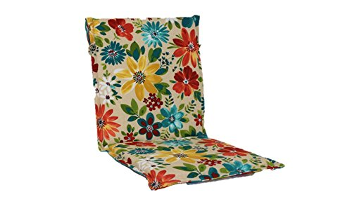 Brentwood Originals 35307 Indoor/Outdoor Sling Chair Cushion, Piper Biscotti Reverse to Piper Stripe (Patio Furniture Brentwood)