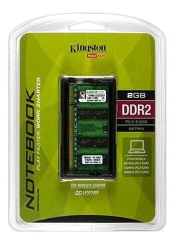 Kingston ValueRAM 2 GB 667MHz DDR2 Non-ECC CL5 SODIMM Notebook Memory ()