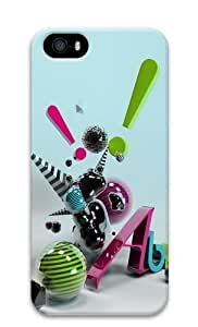 3D Abstract Art Polycarbonate Hard 3D Case Cover for iPhone 5 and iPhone 5S