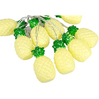 Pineapple 10 Warm White LED String Lights Garland Novelty Party Home Decor