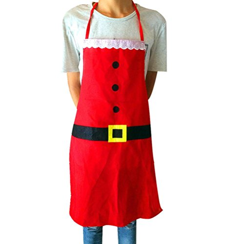 [Iuhan Fashion Christmas Santa Claus Apron Whimsy Novelty Gift for Kitchen Apron] (1950s Geek Costume)