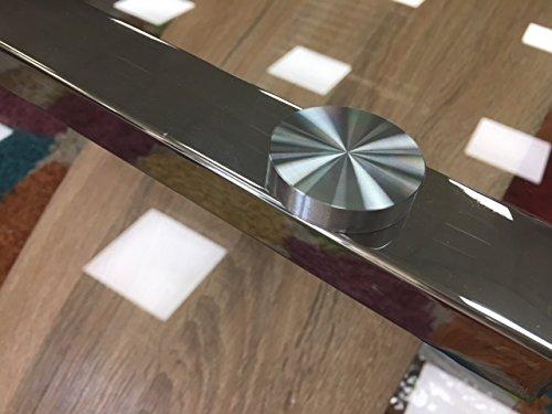 Mesa de Comedor Málaga. Cristal Templado y Pata Central en Roble y Cromo 160x90 cm: Amazon.es: Hogar