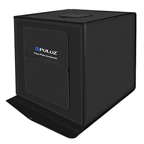 PULUZ 60cm Folding Portable 60W 2 x 1690LM 5500K White Light Photo Lighting Studio Shooting Tent Box Kit with 3 Colors Backdrops (Black, Orange, White), Size: 60cm x 60cm x 60cm (60cm 2x60pcs LEDs) by PULUZ