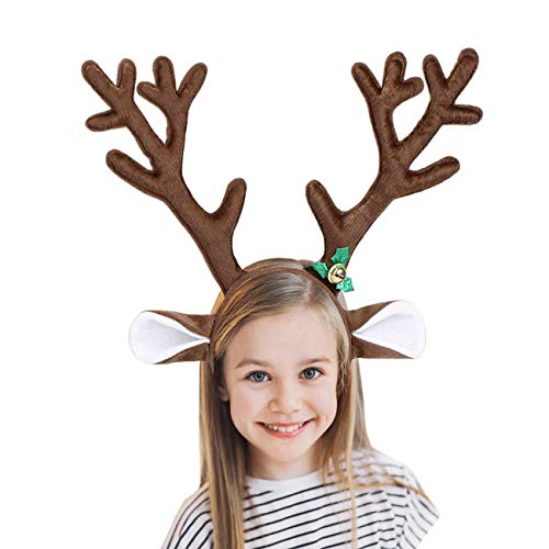 f821f76f589d4 M G House Reindeer Antlers Headband Christmas and Easter Party Short Plush  Headbands