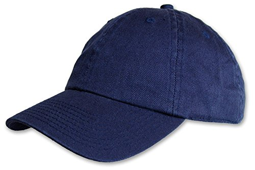 Blue Hemp Hat - Hemp and Organic Cotton Unstructured EcoWash Baseball Hat by Fair Hemp (Blue)