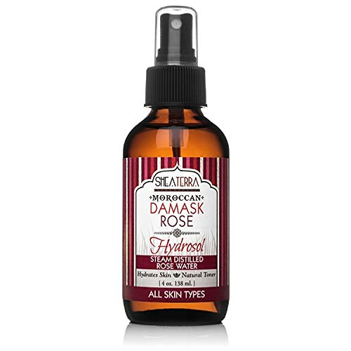 (Shea Terra Organics Moroccan Rose Beauty Water | Hydrating Facial Toner to Nourish and Moisturize Skin with Anti-Aging Benefits - Paraben and Alcohol Free - 4 oz)