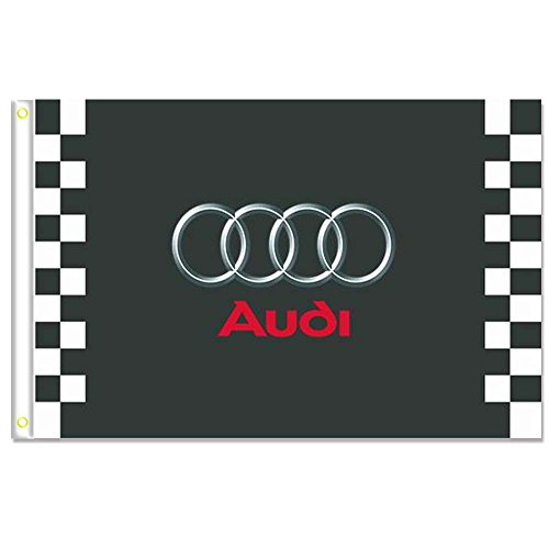 Home King Audi Racing Flags Banner 3X5FT 100% Polyester,Canv