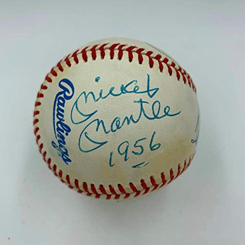 (Rare Mickey Mantle 1956 Ted Williams Triple Crown Signed Inscribed Baseball JSA)