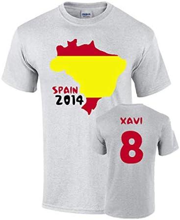 Airosportswear - Camiseta con la Bandera de España (David Villa 7 ...