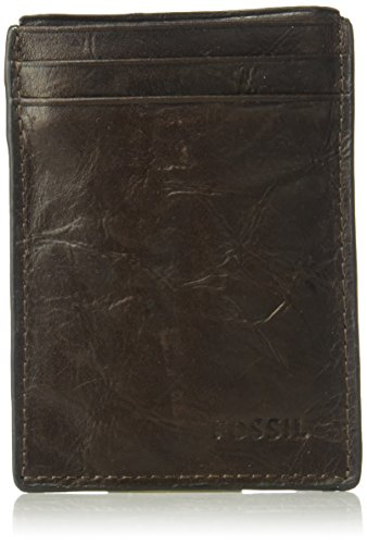 Fossil Money Clips - Fossil Men's Magnetic Card Case Wallet, Brown