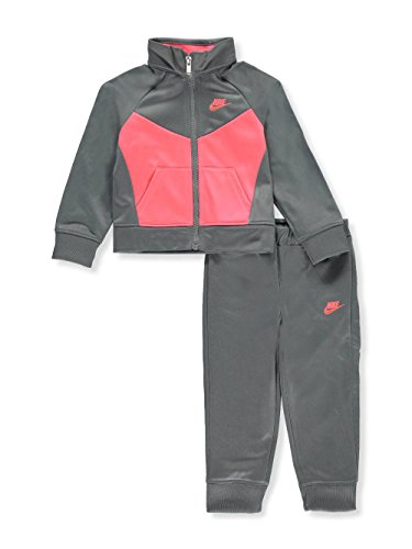 NIKE Girls' 2-Piece Tracksuit - Cool Gray, 12 - Tracksuit Womens Cool