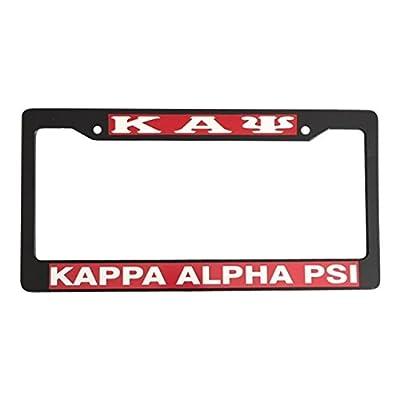 Kappa Alpha Psi Black Plastic License Plate Frame Greek Fraternity Letter For Front Back of Car: Automotive
