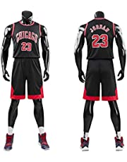 Kid Boy Mens NBA Michael Jordan #23 Chicago Bulls RETRO Basketbal korte broek Zomer Jerseys Basketbal Uniform Top&Short