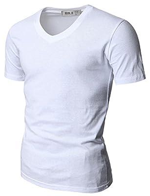 Doublju Mens V-Neck T-shirts with Short Sleeve