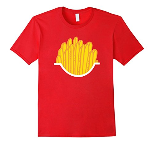 Easy Guy Costumes Halloween (Mens French Fries - Easy Halloween Costume - Halloween Shirt 3XL Red)