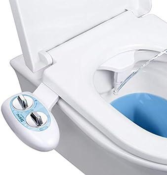 Non-Electric Bidet Toilet Seat Bidet Attachment Self-Cleaning Nozzle-Fresh Water