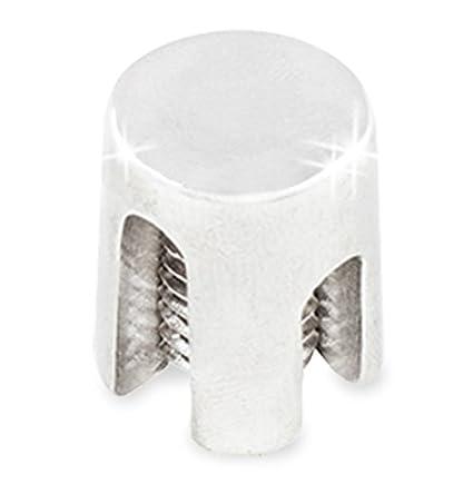 PRIOstahl Kreuzklemme aus rostfreiem Edelstahl V4A Kreuz Klemme Kreuzschelle Seilklemme (geschlossen - 3mm, 10 Stück) 10 Stück)