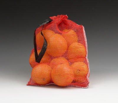 "9-1/2"" x 14-1/2"" 5 lb. Red Mesh Produce Bags (100 Bags) -..."