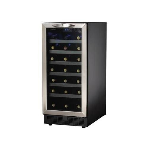 Danby DWC1534BLS 3.7 Cu. Ft. 34-Bottle Silhouette Wine Cooler - Black/Stainless