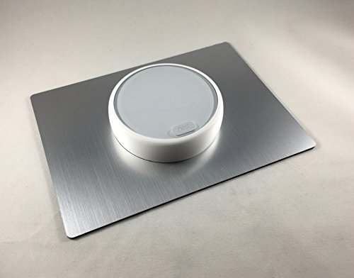 - Decorative Rectangle E - Nest Thermostat Wall Plate - SILVER