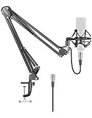 Neewer® Broadcast Studio mikrofon fjädring bom sax armstativ med stötdämpning och XLR hane till hona kabel