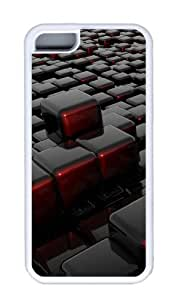 Customized Case 3D Cube 2 TPU White for Apple iPhone 5C