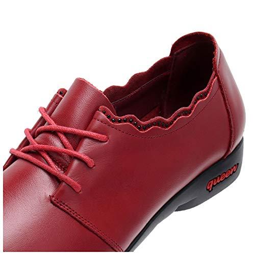Le Casuali Lavoro Red Barca Delle Stringate Piatte Molle Da Donne Scarpe Fannulloni Ballerine 87n5tqwxa