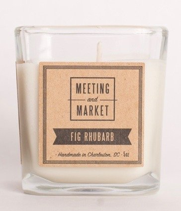 Fig Rhubarb - Soy Wax Scented Candle - Long Burning Candle for Men or Women - Premium Fragrance Candle (5oz, Fig Rhubarb) (Where To Buy Candles)
