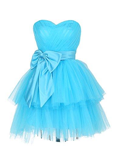 Dresstells Short Tulle Dress Homecoming Dress Girls Sweet 16 Sky Blue Size14