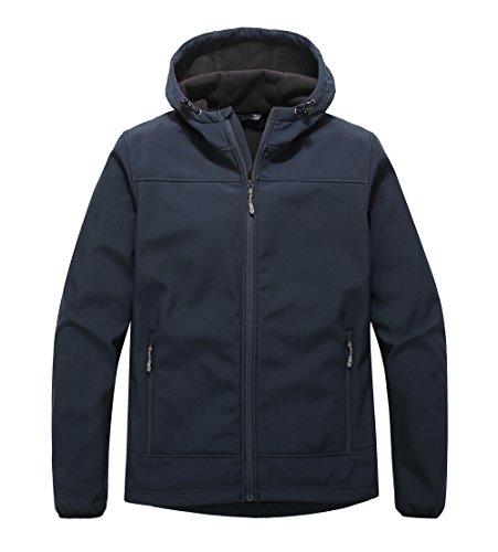 Navy Blue Hooded Jacket - 1