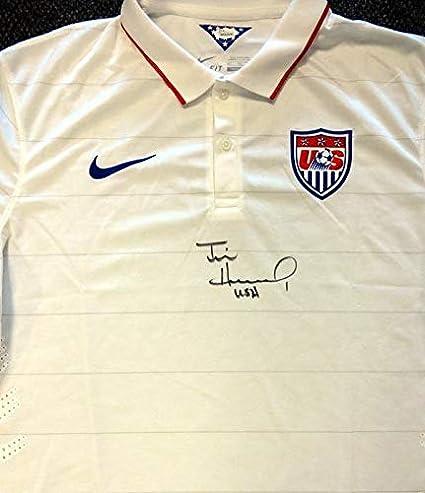 c0ed2af6f26 Team USA Tim Howard Autographed White Nike Jersey
