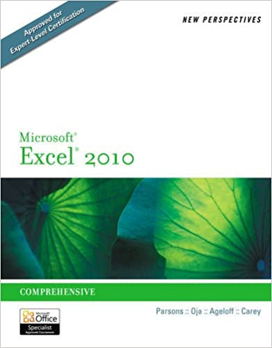 Book New Perspectives on Microsoft Excel 2010: Comprehensive (Advanced Spreadsheet Applications)