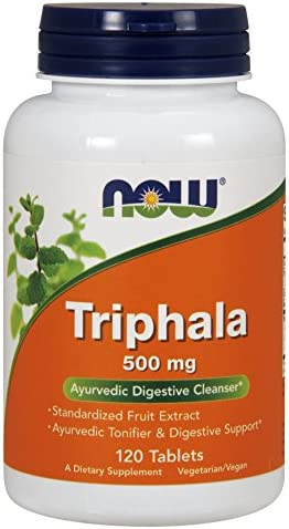 NOW Triphala, 500 mg, 120 Tablets Pack of 2