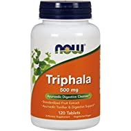 NOW Triphala, 500 mg,  120 Tablets (Pack of 2)