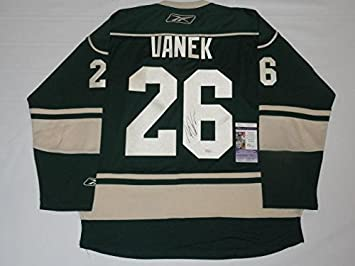4fd9941db Signed Thomas Vanek Jersey -  26 Minnesota Wild 3rd Alternate Coa - JSA  Certified -