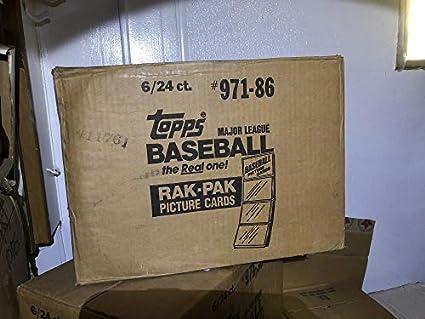 1986 Topps Baseball Card Set 6 Rack Pack Box Factory Sealed