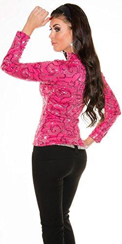 In-Stylefashion - Camiseta de manga larga - para mujer Rosa